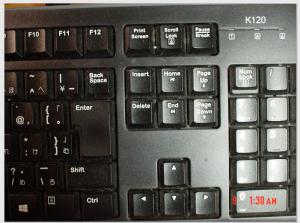 使用中のキーボード一部