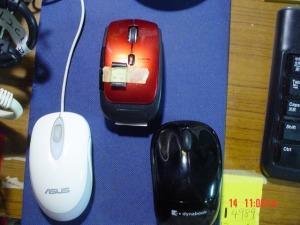 ノート用の3個のマウス