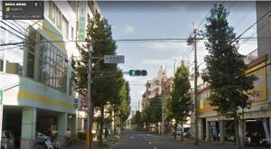 Googlleマップで作成した広馬場通り