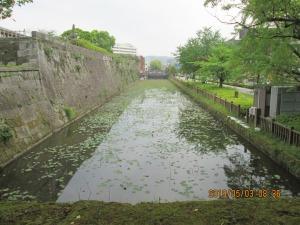 鹿児島鶴丸城の堀